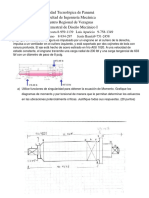 Examen SEMESTRAL de Diseno Mecanico I 2021R