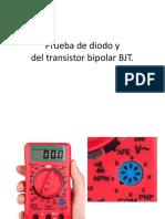 Prueba de diodo y transistor