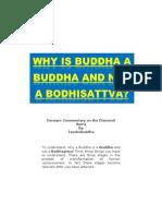 Why a Buddha is a Buddha