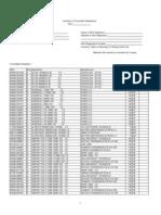 Control Inventory Log