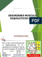 Sesión N° 5 Desordenes Musculo Esqueléticos 2021