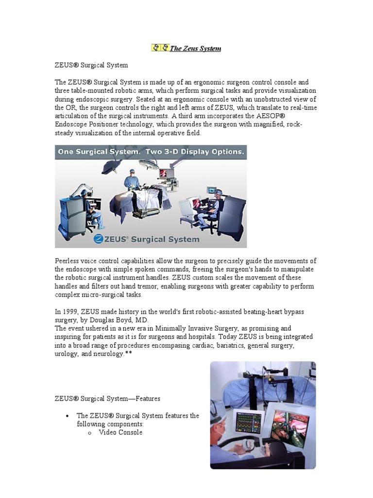 zeus robotic surgical system