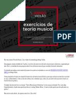 Teoria Musical Para Violonistas - EXERCÍCIOS