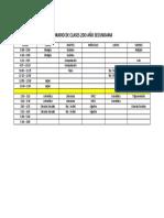 HORARIO DE CLASES 2DO AÑO SECUNDARIA - PAVLOV