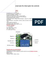 433 Mhz Universal Sem Fio Interruptor de Controle Remoto