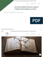 Breve storia della psicoterapia in Italia. Linee di sviluppo dal secondo dopoguerra alla metà degli anni '70. • Associazione Sviluppo e Relazione
