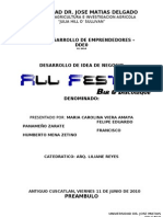 Plan de Negocio - ALL FESTA