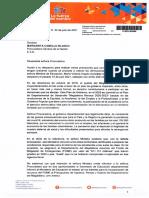 COMUNICACIÓN A LA PROCURADORA GENERAL DE LA NACION - MARGARITA CABELLO BLANCO
