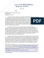 Gallagher Et Al Letter to CDC on Breakthrough Infection Data