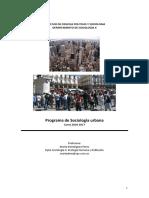 UCM sociología urbana