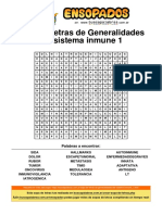 Sopa de Letras de Generalidades Del Sistema Inmune 1