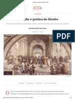 Lopes, J R L - Filosofia e prática do Direito (Jota, 2017) (1)