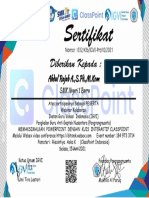 Abdul Rajab A.,S.Pd.,M.Kom Sertifikat webinar classpoint