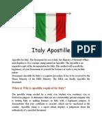Italy Apostille