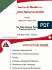 Informe Presidencia Nacional a Asamblea Nacional Cartagena 2011