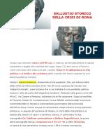 Sallustio Storico Della Crisi Di Roma