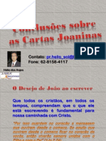 3ª aula - Cartas Joaninas - Conclusões
