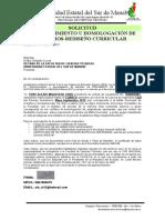 9. SOLICITUD DE RECONOCIMIENTO U HOMOLOGACIÓN, ART. 91.- cambio de mallas