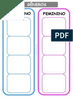 Masculino e feminino TEAtividades