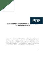 CATEGORIAS BASICAS PARA EL ESTUDIO DE LA CIENCIA POLITICA[1]