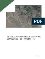 INFORME _Puntos Geodesicos