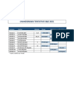 Cronograma tentativo 2021
