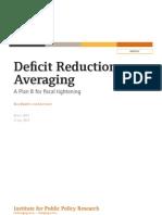 Deficit Reduction Averaging