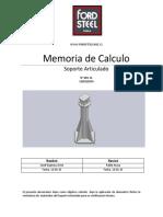 MEMORIA CALCULO SOPORTE ARTICULADO
