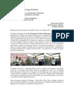 carta número 121 (24-03-2011) del Bajo Lempa/El Salvador