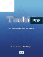 Tauhid Der Eingottglaube Im Islam