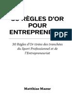 30 Règles d_Or pour Entrepreneurs