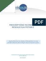 Reseau31 Prescriptions Techniques Eau Potable