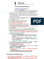 Admissions Application Information - Jamaica-Final - September 2011