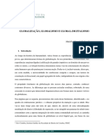 Globalização, globalismo e global-digitalismo – Mafalda Miranda Barbosa