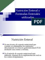 Nutrición Enteral y Formulas Enterales utilizadas