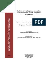 Análisis del renting como mecanismo de financiamiento para la adquisición de vehículos