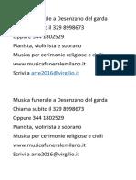 Musica Funerale Peschiera Del Garda