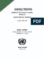 Establishment of a New International Economic Order