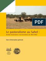 Le pastoralisme au Sahel _ Module d animation et de formation de l IIED-ARED. Note d information générale