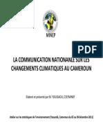 Communication nationale sur le Climate change (Cameroon)