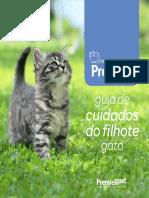 01. Guia de gato cuidados do filhote Autor PremieRpet®️