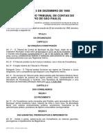 LEI Nº 9167- 80 - lEI ORGANICA DO TCM SP