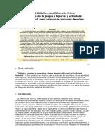 Modelo de unidad didáctica para Educación Física secundaria