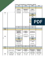 HORÁRIOS Arquitetura e Urbanismo - 2021-2.Xlsx - Planilha1