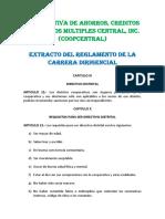 Extracto Carrera Dirigencial (Distritos Cooperativos)