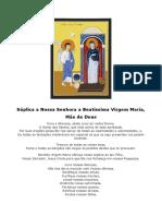 Súplica a Nossa Senhora a Beatíssima Virgem Maria 2018