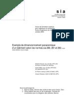 Exemple de dimensionnement parasismique d___un b__timent selon les normes sia 260_ 261 et 262