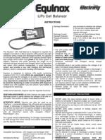 Equinox Lipo Cell Balancer-manual