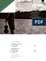 Digital Booklet - Bartok Violin Concertos. Faust