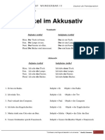 a1 Artikel Im Akkusativ Arbeitsblatter Grammatikerklarungen Grammatikubung 80310
